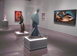 Фрагмент експозиції О. Архмпенка в Музеї Палмера (2)