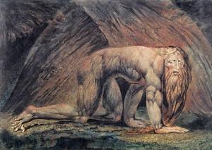 Вільям Блейк. Навуходоносор. 1795 - 1805. Лондон. Галерея Тейт