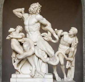 """Скульптурна група """"Лаокоон та його сини"""" (після реставрації 1957/60. Рим. Ватиканські музеї"""