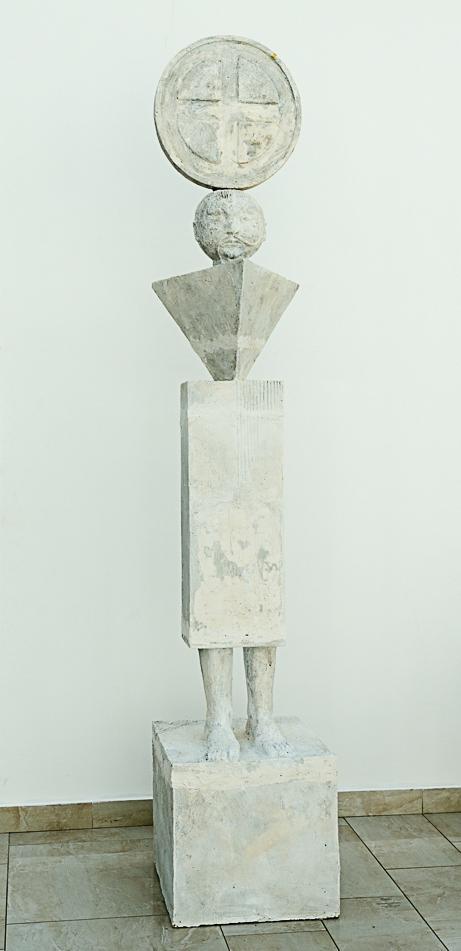 Козак Мамай. 2011. Штучний камінь. 257 х 52 х 48 см