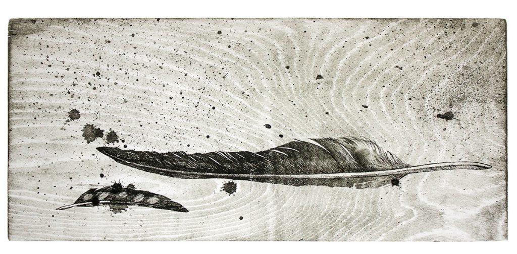 Орел і сойка. Мокуліто, папір. 2014. 31х68 см