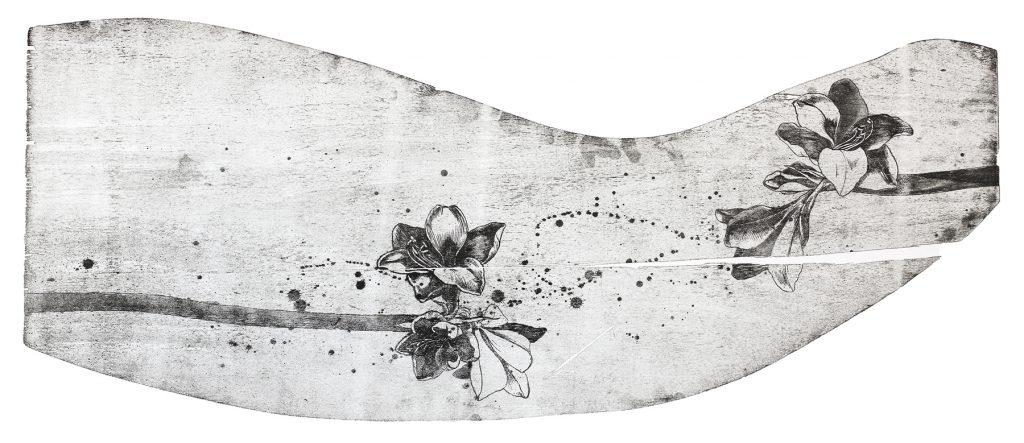 Хвиля І. Мокуліто, папір. 2017. 50 х 110 см