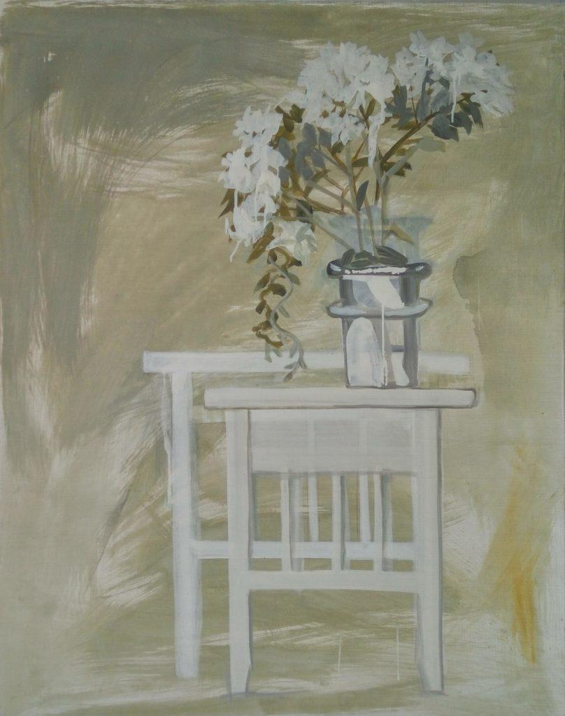 Марта Базак. Білий столик. 2012. Полотно, акрил. 100х80 см