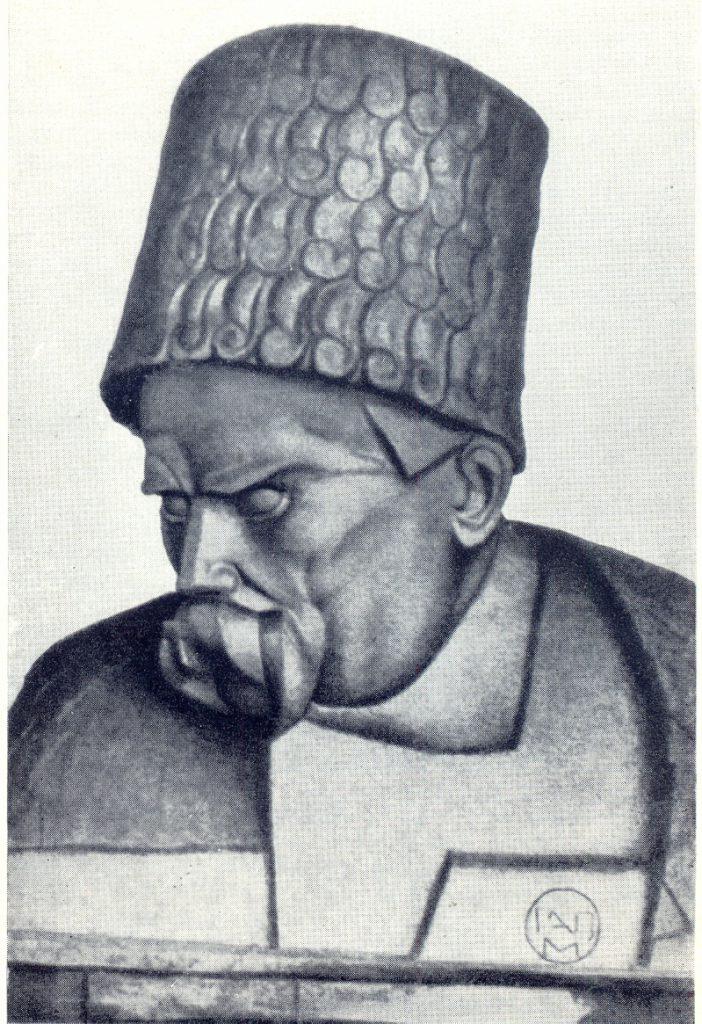 Б.М. Кратко. Погруддя Т.Г. Шевченка для пам'ятника в Харкові. 1921. Гіпс.