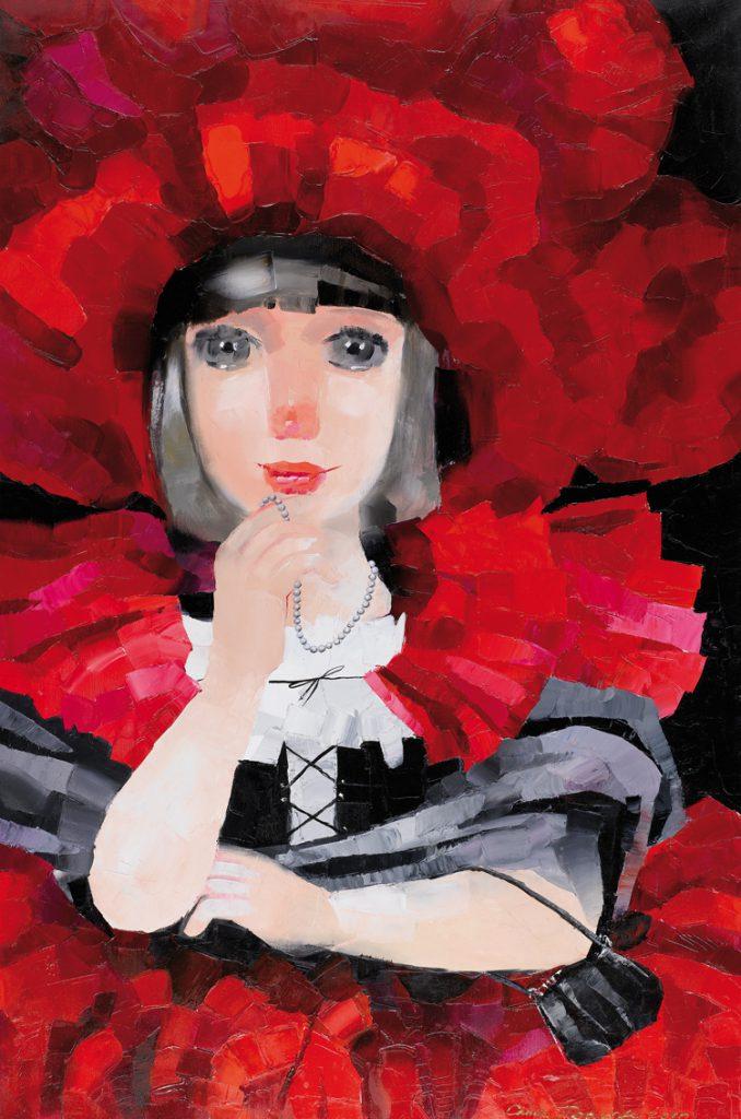 Саші Прахова. Дівчинка-мак. 2010. Полотно, олія. 120х80 см
