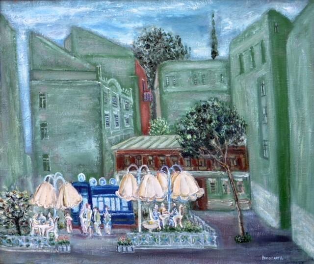 """Любов Рапопорт. Із серії """"Старий Київ. Літо у місті"""". 1985"""