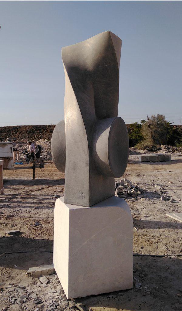 Точка руху. Чорний вапняк. Сохар, Оман. 2020
