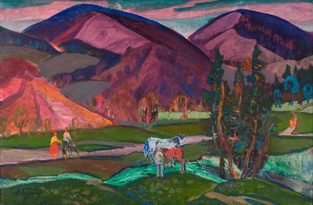Олександр Бурлін. Під вечір у горах. 1980